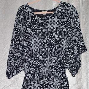ARIAT Black & White Blouse